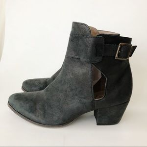 Free People Belleville Black Leather Ankle Bootie